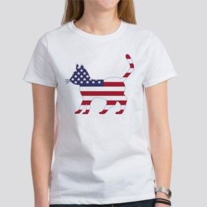 US Flag Cat Icon T-Shirt