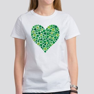 Irish Shamrock Heart - Women's T-Shirt