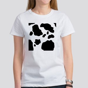 Black/White Cow Women's T-Shirt