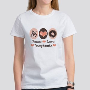 Peace Love Doughnuts Donut Women's T-Shirt