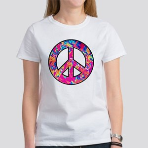 Peace Symbol Psychedelic Pinks Women's T-Shirt