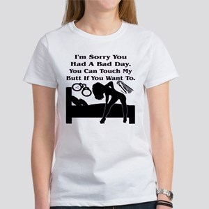 You Can Touch My But Women's Classic White T-Shirt