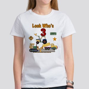 Construction Vehicles 3rd Birthday T Shirt