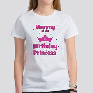 Mommy Of The 1st Birthday Pri Womens T Shirt
