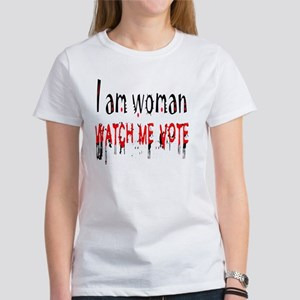 WATCH ME VOTE MYLAR BALLOON Women's T-Shirt