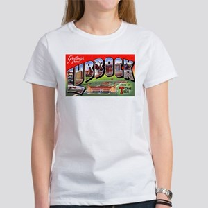Lubbock Texas Greetings (Front) Women's T-Shirt