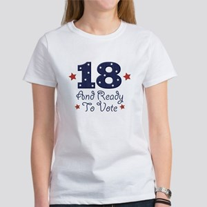 8049418f2 18 And Ready To Vote Women's T-Shirt