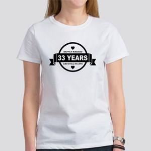 Happily Married 33 Years T-Shirt