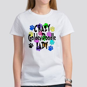 Crazy Goldenddoodle Lady Women's T-Shirt