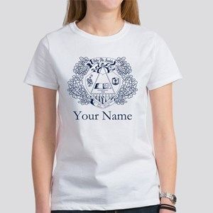 Delta Phi Lambda Crest Personalize Women's T-Shirt