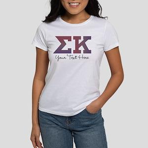 Sigma Kappa Letters Women's Classic White T-Shirt