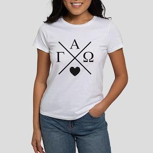 Gamma Alpha Omega Cr Women's Classic White T-Shirt