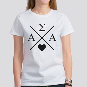 Alpha Sigma Alpha Cr Women's Classic White T-Shirt