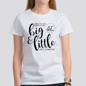 Delta Gamma Big Litt Women's Classic White T-Shirt