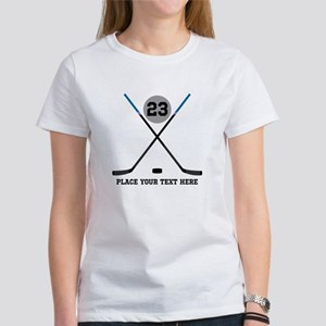 Ice Hockey Personali Women's Classic White T-Shirt