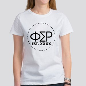 Phi Sigma Rho Circle Women's Classic White T-Shirt