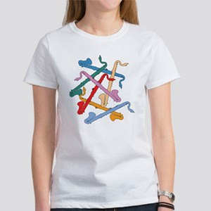 Colorful Bass Clarinets Women's T-Shirt