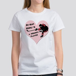My Heart Belongs to a Hockey Women's Dark T-Shirt