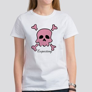 Expecting Pink Skull Women's T-Shirt