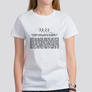 everything I need to know in life-Karate Women's T