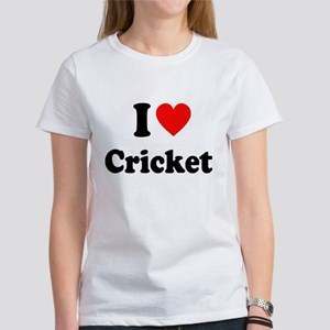 I Heart Cricket Women's T-Shirt