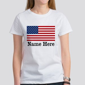 Personalized American Flag Women's T-Shirt