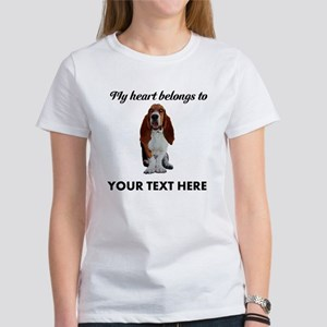 Personalized Basset Hound Women's T-Shirt