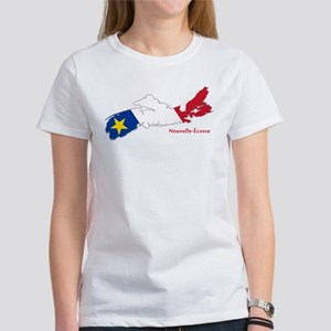 Acadian Flag Nova Scotia Women's T-Shirt