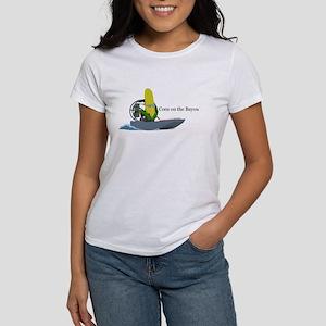 Corn On The Bayou Women's White T-Shirt