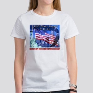9-11 Tribute & Warning Women's T-Shirt