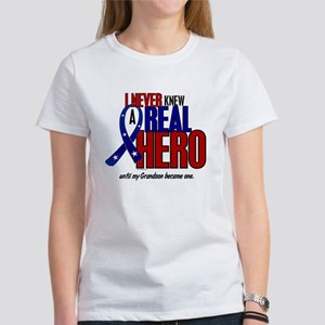 Never Knew A Hero 2 Military (Grandson) Women's T-