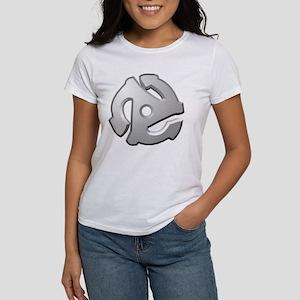 45 RPM Adapter DJ Logo Women's T-Shirt