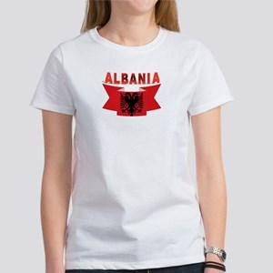 flag Albania Ribbon Women's T-Shirt