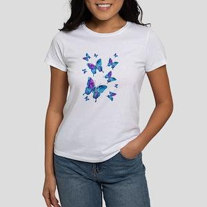 Electric Blue Butterfly Flurry Women's T-Shirt