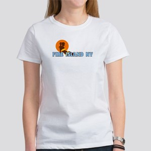 Fire Island - Sunbathing Design Women's T-Shirt