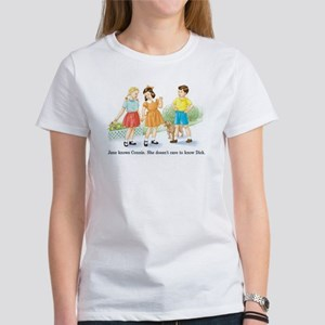 Jane Knows Connie She... Lesb Women's T-Shirt