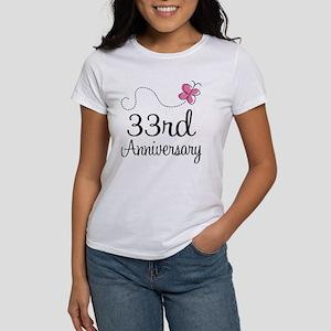 33rd Anniversary Butterfly Women's T-Shirt