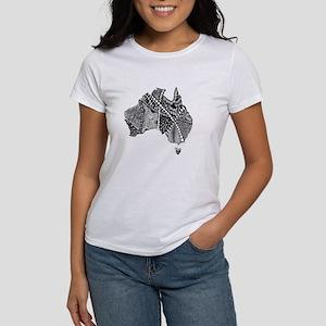 Australia Map Tangled Doodle Women's T-Shirt