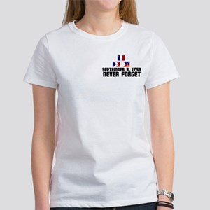 Never Forget/Flags Women's T-Shirt (Dual Print)