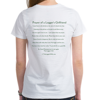 Prayer loggers girlfriend womens t shirt prayer of a loggers prayer loggers girlfriend womens altavistaventures Image collections