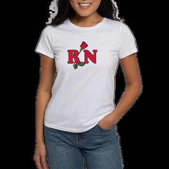 RN Nurses Rose Women's T-Shirt