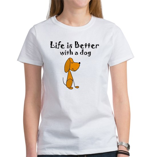 Life is Better with Dog Cartoon
