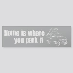 Home is where you park it Sticker (Bumper)