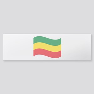 Green, Gold and Red Flag Bumper Sticker