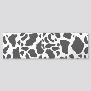 Cow Print Pattern Bumper Sticker