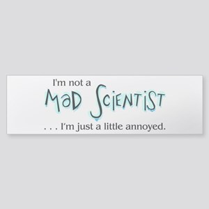 Mad Scientist Sticker (Bumper)