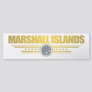 """Marshall Islands Flag"" Sticker (Bumper)"