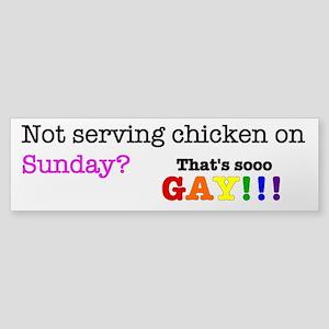 Gay chicken Sticker (Bumper)