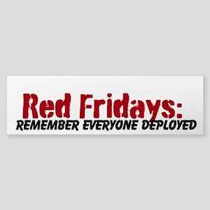 """""""Red Fridays"""" Sticker (Bumper)"""