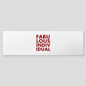 fabulous individual Bumper Sticker